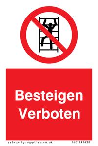Besteigen Verboten