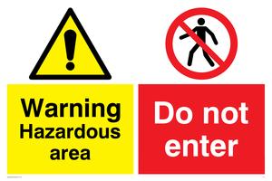 Hazardous area do not enter