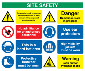 Site safety board - style 1