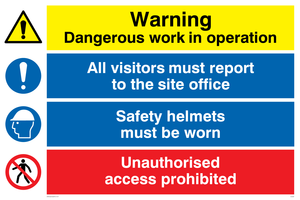 Site safety combination Sign