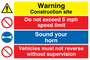 Construction safety combination Sign