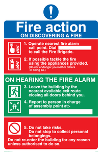 Fire Action Notice sign