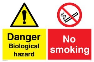 Biological hazard & No smoking