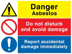Asbestos combination sign