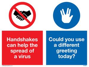Handshakes help spread a virus use vulcan salute instead