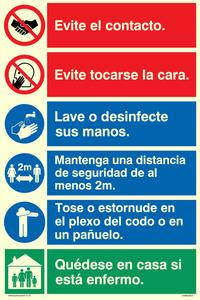 Covid 19 multi sign (Espanol)