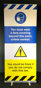 You must wear face covering beyond this point