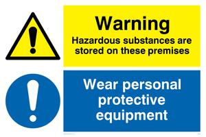 Warning Hazardous substances