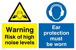 High noise ear protection worn