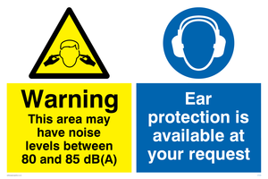 Noise levels between 80 and 85