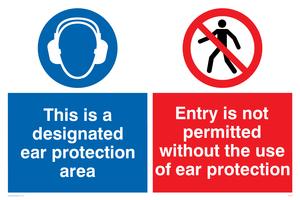 Designated ear protection area