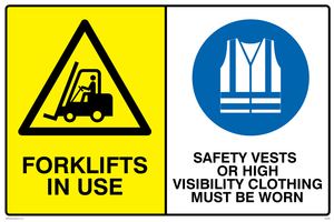 Forklifts in use hi-vis must be worn