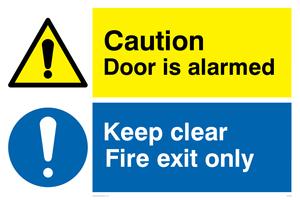 Caution Door is alarmed