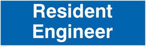 resident engineer - door sign