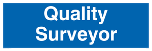 quality surveyor - door sign