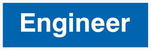 engineer - door sign