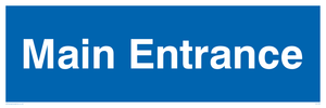 main entrance - sign