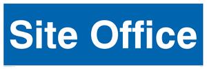 site office - door sign