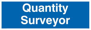 quantity surveyor - door sign