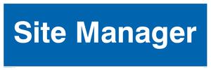 site manager - door sign