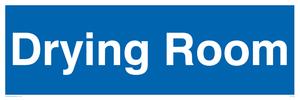 drying room - door sign
