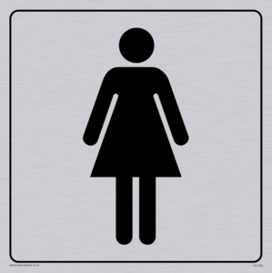 female toilet symbol - toilet door sign