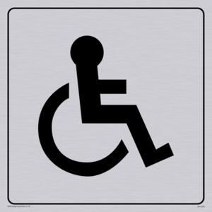 disabled toilet symbol - toilet door sign