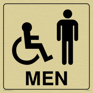 men - toilet door sign