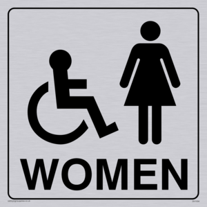 women - toilet door sign