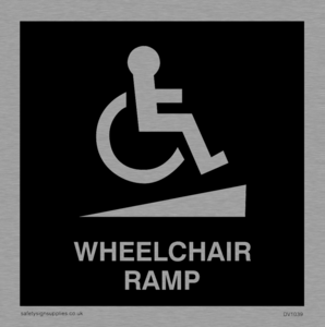 wheelchair ramp disability sign