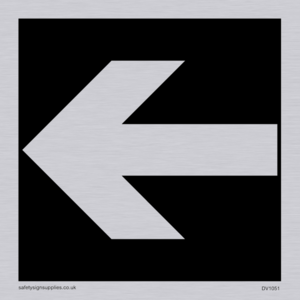 straight arrow only sign