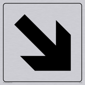 diagonal arrow only sign