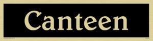 canteen - door sign