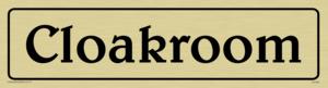 cloakroom - door sign