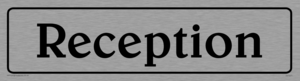 reception - sign