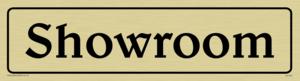 showroom - sign