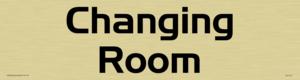 changing room - door sign