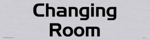 changing room - door sign
