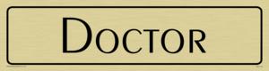 doctor - door sign