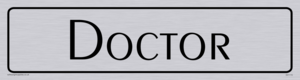 doctor - door sign