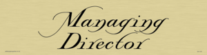 managing director - door sign