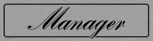 manager - door sign
