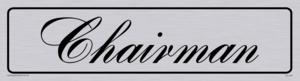 chairman - door sign