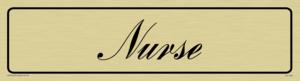 nurse - door sign