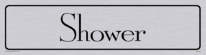 shower - door sign
