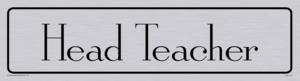 head teacher - door sign