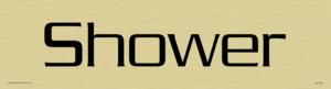 shower - door sign