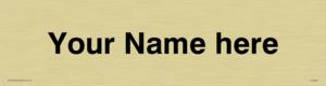 Custom door sign with Helvetica Font