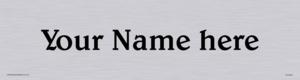 Custom Door Sign With Belwe Medium Font
