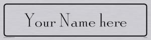 Custom Door Sign with Antique Roman Solid Font